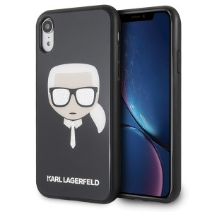 Karl Lagerfeld Iconic Glitter Karl`s Head Hülle KLHCI61DLHBK iPhone Xr schwarz