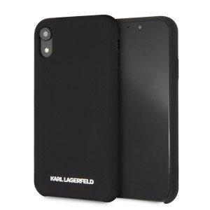 Karl Lagerfeld Silicone Hülle Soft Touch iPhone Xr schwarz