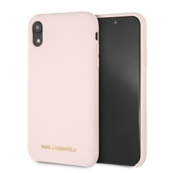 Karl Lagerfeld Silicone Hülle Soft Touch iPhone Xr Rose