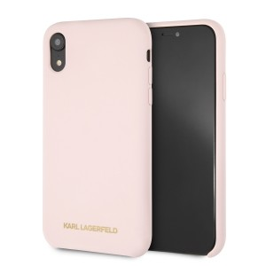 Karl Lagerfeld Silicone Hülle KLHCI61SLLPG iPhone Xr Rose