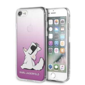 Karl Lagerfeld iPhone SE 2020 / iPhone 8 / 7 Choupette Fun Hülle pink KLHCI8CFNRCPI