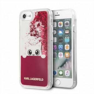 Karl Lagerfeld Liquid Glitter Hülle KLHCI8PABGFU iPhone 8 / 7 Pink