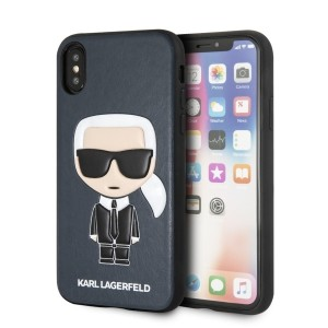 Karl Lagerfeld Iconic Karl Embossed KLHCPXIKPUBL iPhone X / Xs Blau