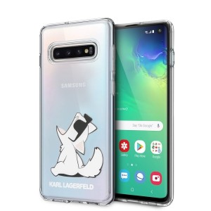 Karl Lagerfeld Choupette Fun Hülle KLHCS10CFNRC Samsung Galaxy S10 transparent