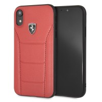 Ferrari Scuderia 488 Lederhülle FEH488HCI61RE iPhone Xr Rot