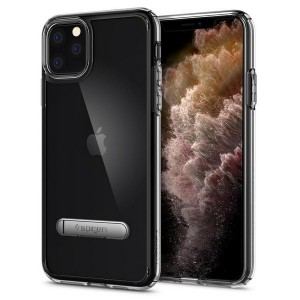 Spigen Ultra Hybrid S iPhone 11 Pro Crystal Clear mit Kickstand