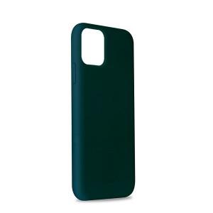 Puro ICON Hülle Silikon iPhone 11 Innenseite Mikrofaser dunkelgrün