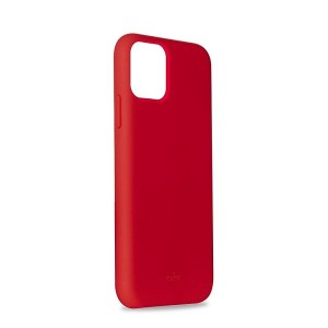 Puro ICON Hülle Silikon iPhone 11 Innenseite Mikrofaser Rot