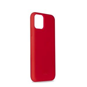 Puro ICON Hülle Silikon iPhone 11 Pro Innenseite Mikrofaser Rot