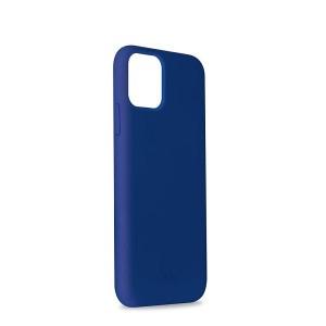 Puro ICON Hülle Silikon iPhone 11 Pro Innenseite Mikrofaser dunkelblau