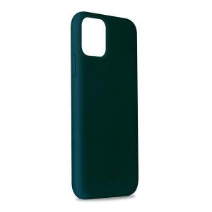 Puro ICON Hülle Silikon iPhone 11 Pro Max Innenseite Mikrofaser dunkelgrün