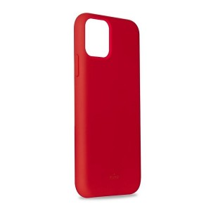 Puro ICON Hülle Silikon iPhone 11 Pro Max Innenseite Mikrofaser Rot