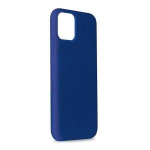 Puro ICON Hülle Silikon iPhone 11 Pro Max Innenseite Mikrofaser dunkelblau