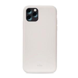 Puro ICON Hülle Silikon iPhone 11 Pro Max Innenseite Mikrofaser Grau