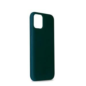 Puro ICON Hülle Silikon iPhone 11 Pro Innenseite Mikrofaser dunkelgrün