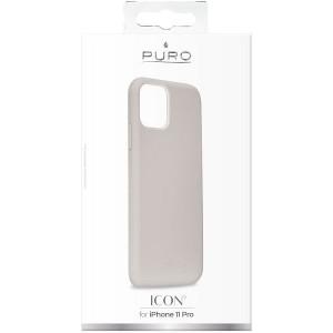 Puro ICON Hülle Silikon iPhone 11 Pro Innenseite Mikrofaser Grau