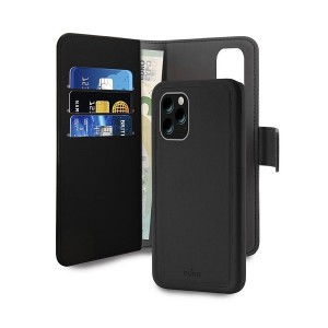 Puro Wallet Book Tasche + Hülle 2in1 iPhone 11 Pro Schwarz