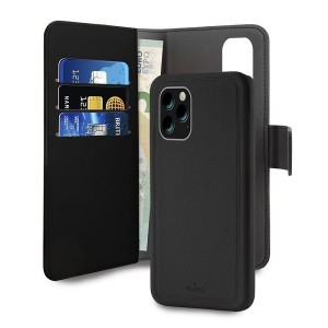 Puro Wallet Book Tasche + Hülle 2in1 iPhone 11 Pro Max Schwarz