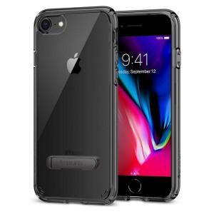 Spigen Ultra Hybrid S Hülle iPhone SE 2020 / iPhone 8 / 7 schwarz mit Kickstand
