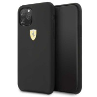 Ferrari Silikon Hülle FESSIHCN65BK iPhone 11 Pro Max Schwarz