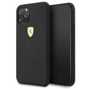 Ferrari Silikon Schutzhülle iPhone 11 Pro Max Schwarz FESSIHCN65BK