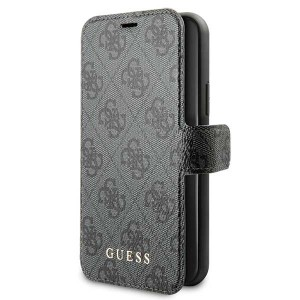 Guess Ledertasche 4G Kollektion iPhone 11 Pro Grau GUFLBKSN584GG