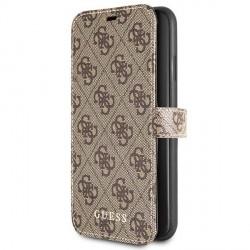 Guess Ledertasche 4G Kollektion iPhone 11 Pro Max Braun GUFLBKSN654GB