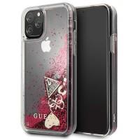 Guess Hülle Glitter Hearts Kollektion GUHCN58GLHFLRA iPhone 11 Pro Himbeere