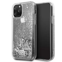 Guess Hülle Glitter Hearts Kollektion GUHCN58GLHFLSI iPhone 11 Pro Silber
