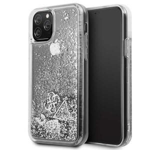 Guess Hülle Glitter Hearts Kollektion iPhone 11 Pro Silber GUHCN58GLHFLSI