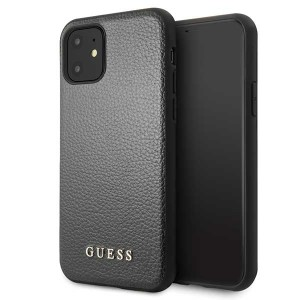 Guess Hülle Iridescent Kollektion GUHCN61IGLBK iPhone 11 Schwarz