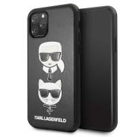 Karl Lagerfeld Karl & Choupette Lederhülle iPhone 11 Pro Schwarz KLHCN58KICKC