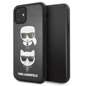 Karl Lagerfeld Schutzhülle Hülle Karl & Choupette iPhone 11 Schwarz