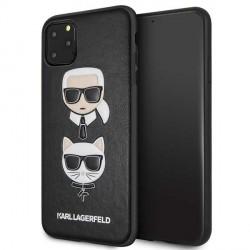 Karl Lagerfeld Hülle Karl & Choupette iPhone 11 Pro Max Schwarz KLHCN65KICKC