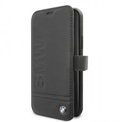 BMW Tasche Signature Logo Imprint iPhone 11 Leder Schwarz BMFLBKSN61LLSB