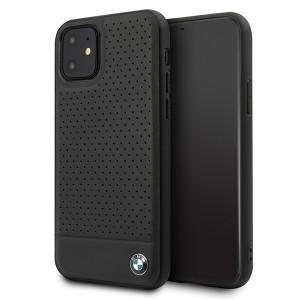 BMW Lederhülle Perforated BMHCN61PEBOBK iPhone 11 Schwarz