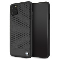 BMW Lederhülle Perforated BMHCN65PEBOBK iPhone 11 Pro Max Schwarz