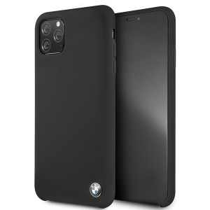 BMW Silikon Schutzhülle iPhone 11 Pro Max Schwarz BMHCN65SILBK