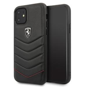 Ferrari HERITAGE Quilted Lederhülle iPhone 11 Schwarz FEHQUHCN61BK
