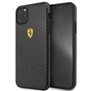 Ferrari On Track Carbon Hülle FESPCHCN65CBBK iPhone 11 Pro Max Schwarz