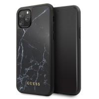 Guess Marble Hülle GUHCN58HYMABK iPhone 11 Pro Schwarz