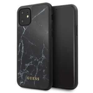 Guess Marble Hülle GUHCN61HYMABK iPhone 11 Schwarz
