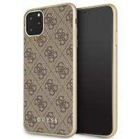 Guess Hülle 4G Kollektion GUHCN65G4GB iPhone 11 Pro Max Braun