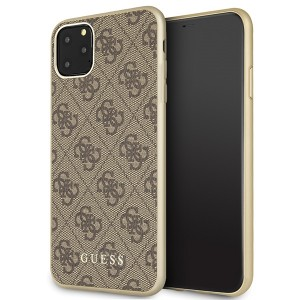 Guess Hülle 4G Kollektion GUHCN65G4GB iPhone 11 Pro Max Braun