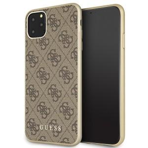 Guess Schutzhülle 4G Kollektion iPhone 11 Pro Max Braun GUHCN65G4GB