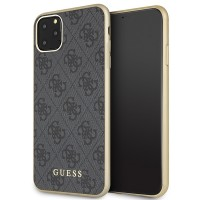 Guess Hülle 4G Kollektion GUHCN65G4GG iPhone 11 Pro Max Grau