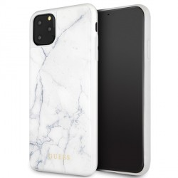 Guess Marble Hülle GUHCN65HYMAWH iPhone 11 Pro Max Weiß