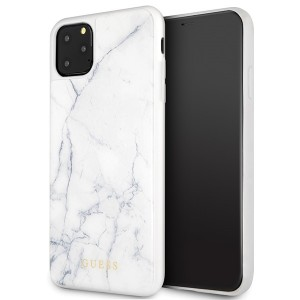 Guess Marmor Muster Hülle iPhone 11 Pro Max Weiß GUHCN65HYMAWH
