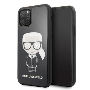 Karl Lagerfeld Iconic Karl Glitter Hülle KLHCN58DLFKBK iPhone 11 Pro Schwarz