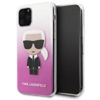 Karl Lagerfeld Gradient Ikonik Karl Hülle KLHCN58TRDFKPI iPhone 11 Pro pink